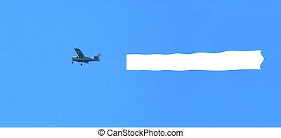 tiszta, repülőgép, terület