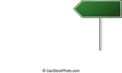 tiszta, zöld, út cégtábla