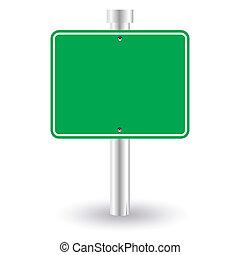 tiszta, zöld, aláír