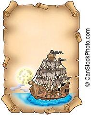 titokzatos, hajó, öreg, felcsavar