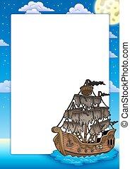 titokzatos, keret, hajó