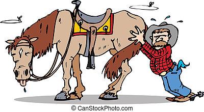 tol, elindít, ló