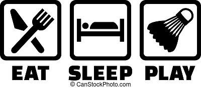 tollaslabda, alszik, eszik