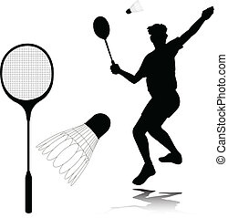 tollaslabda, játékos, körvonal, vektor