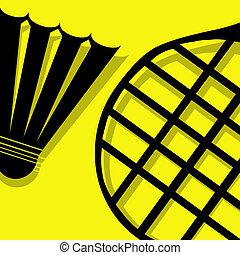 tollaslabda, sárga, pictogram
