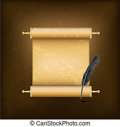tollazat, ősi, fekete, felcsavar