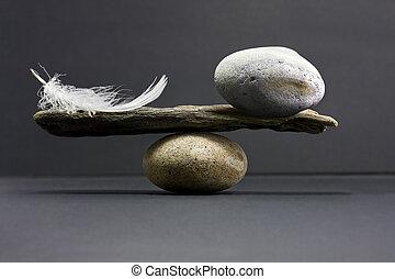 tollazat, egyensúly, megkövez