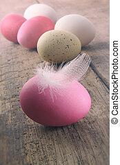 tollazat, húsvét, wooden asztal, ikra