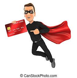 tolvaj, hitelkártya, repülés, hegyezés, 3