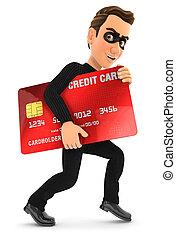 tolvaj, kártya, lopott, hitel, 3
