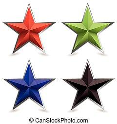 tompaszög, alakít, fém, csillag