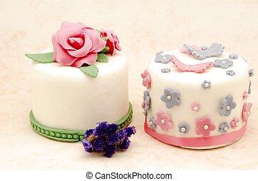 torta, díszes