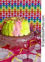 torta, fél, kedves