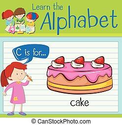 torta, flashcard, c-hang, abc