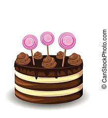 torta, kellemes, csokoládé
