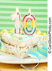 torta szelet, tized, születésnap