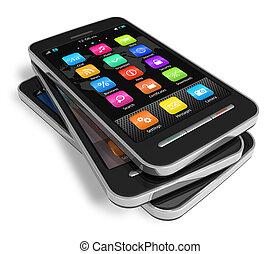 touchscreen, állhatatos, smartphones
