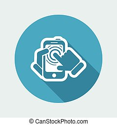 touchscreen, smartphone, ikon