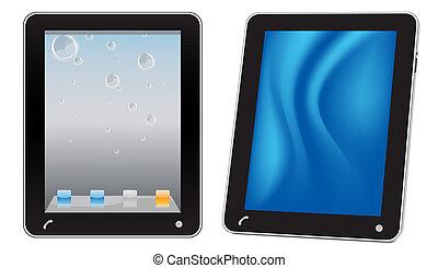 touchscreen, számítógép, tabletta