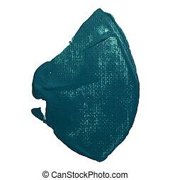 trace., lakk, bepiszkít, kivonat alakzat, vektor, zöld, ecset, tenger, paint., egyenes, loccsanás, stroke.