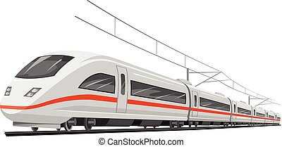 train., vektor, gyorsaság