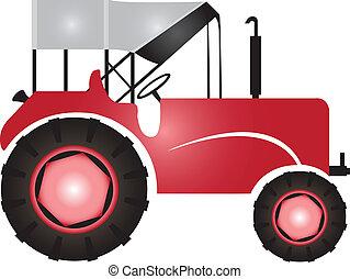 traktor, mezőgazdaság, megfog