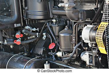traktor, motor