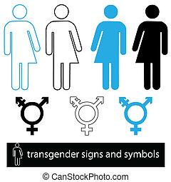 transgender, állhatatos, jelkép, ikon