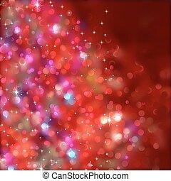 transparency), lights., eps, (without, 8, karácsony
