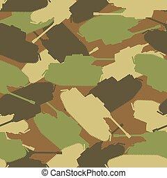 transport., oltalmazó, harckocsi, soldiers., álcáz, háttér, seamless, patern, vektor, öltözet, seregek, pattern., hadi, hadsereg