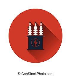 transzformátor, elektromos, ikon