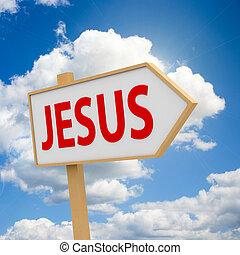 transzparens, ég, jézus