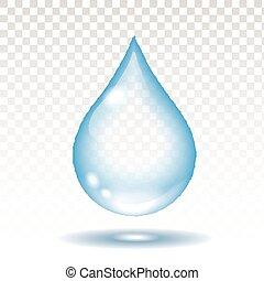 transzparens, csepp, vektor, gyakorlatias, elszigetelt, víz, ábra