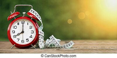 transzparens, diéta, idő