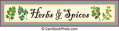 transzparens, fűszeráruk, füvek