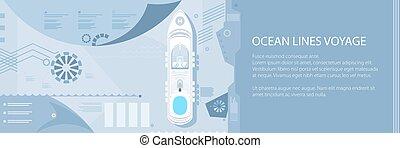 transzparens, hajó, utazás, tenger, cirkálás