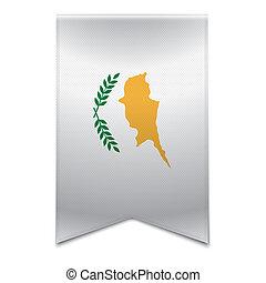 transzparens, lobogó, -, ciprusi, szalag