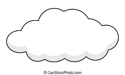 transzparens, retro, felhő
