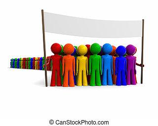 transzparens, színes, tolong