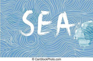 transzparens, tenger, lenget