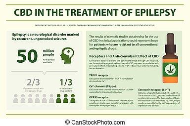 treament, cbd, infographic, horizontális, epilepszia