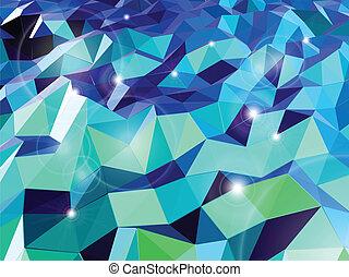 triangles., elvont, vektor, háttér