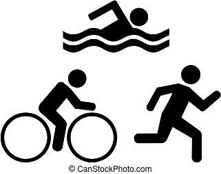 triathlon, ikonok
