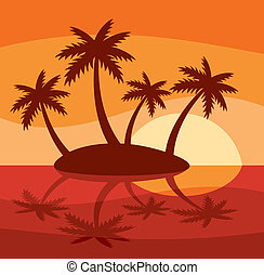 tropical sziget, ábra