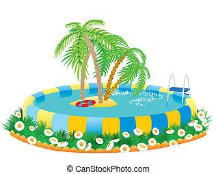 tropical sziget, outdoor tavacska