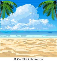 tropical tengerpart, óceán