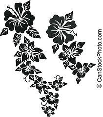 tropical virág, öltözet