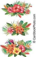 tropical virág, előkészületek