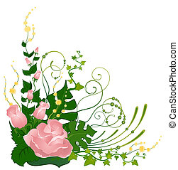 tropical virág, háttér