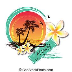 tropikus, ábra, sziget